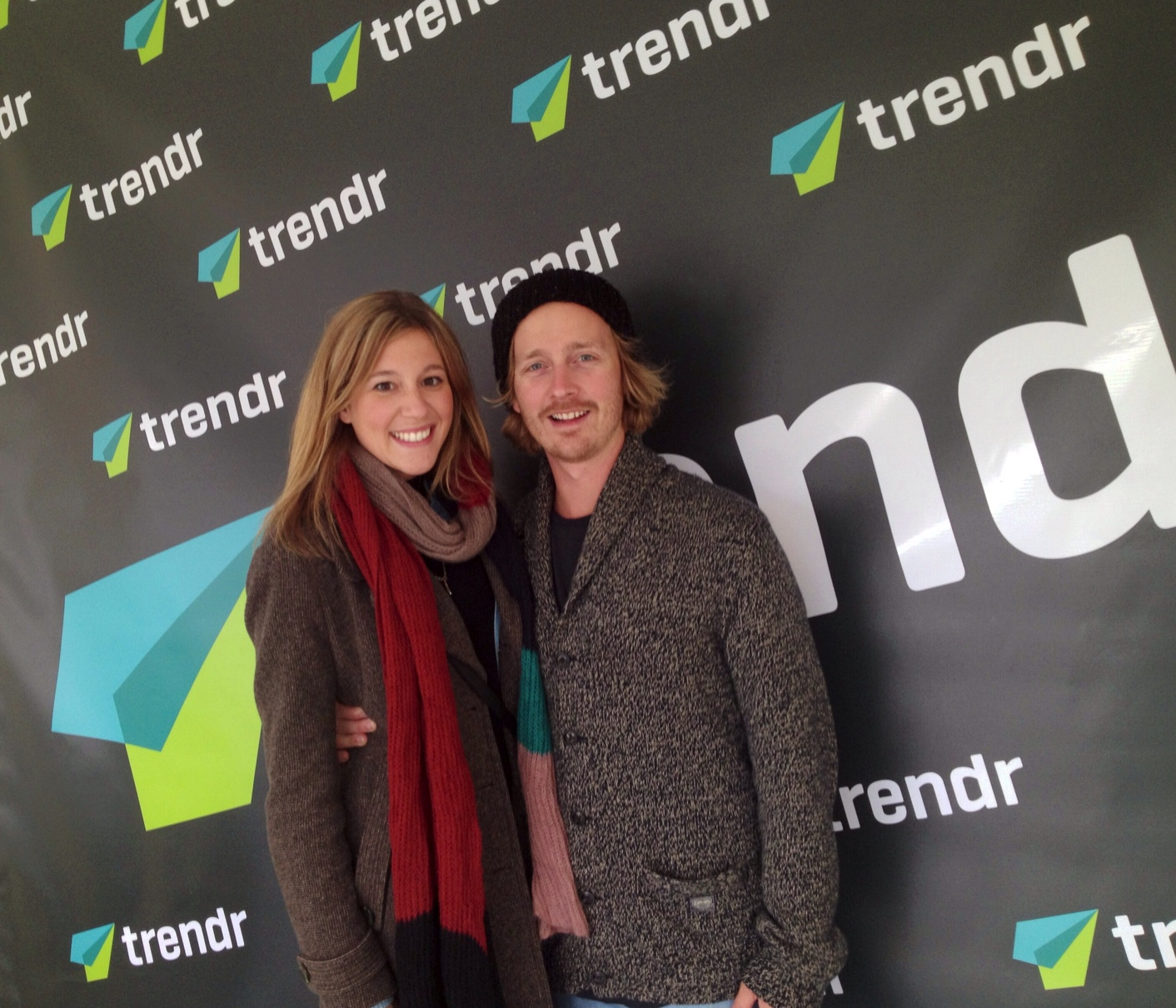 Some new friends met at Trendr Meeting zone at the Grand Prix Montreal f1