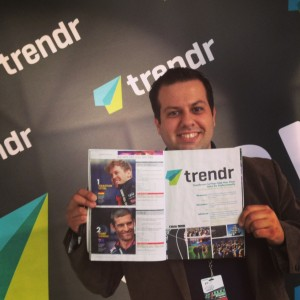 George Stamatis Highlighting Trendr  in the F1 Magazine