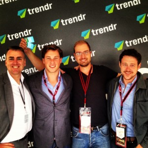 @OurManInMTL with friends in the Trendr Meetup Zone
