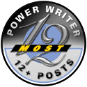 12 Most Power Writer Badge - Mila Araujo
