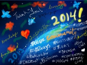 2013 Thank you to online communty by @Milaspage and Happy New Year 2014