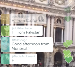 International audiences join together to enjoy the world on Periscope