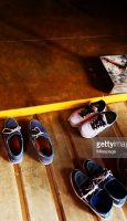 Shoes off at the entrance to buddhist temple, meditate, relax, serenity